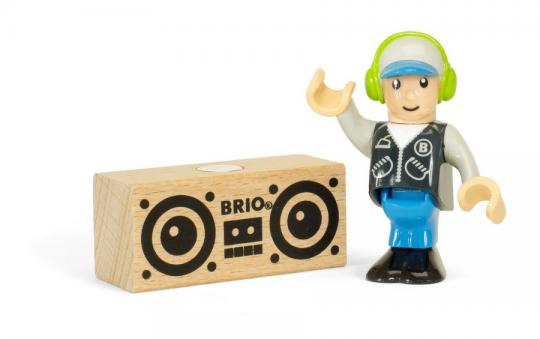 BRIO Figur: Junge mit Radio