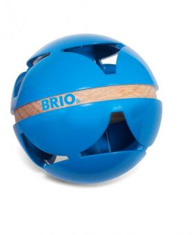 Blauer Motorik-Rasselball