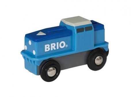 Blaue Batterie-Frachtlok