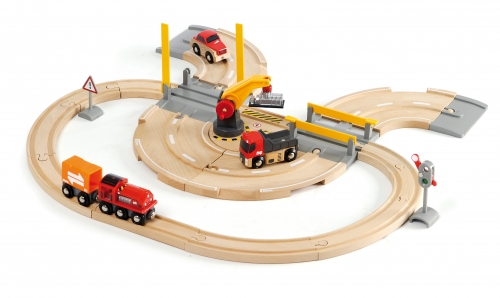 Straßen und Schienen Kran Set
