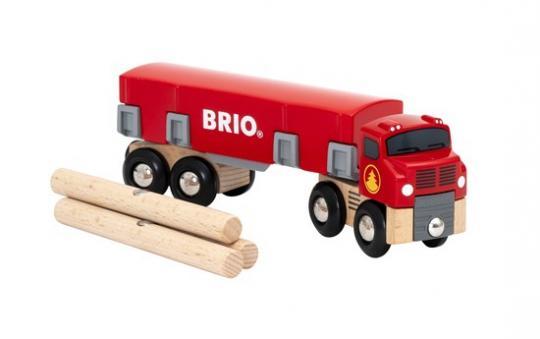 Holztransporter mit Magnetladung