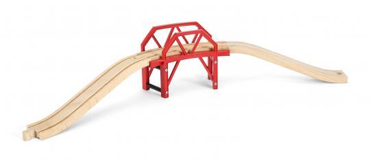 Bahnbrücke mit Auffahrten