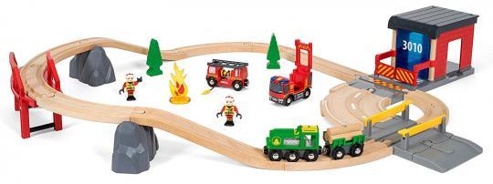 BRIO Bahn Großes Feuerwehr Deluxe Set