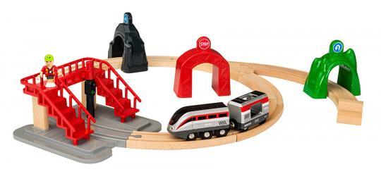 Großes Smart Tech Reisezug Set mit Action Tunnels