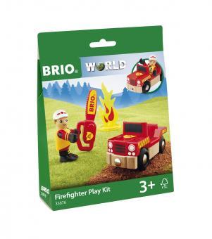 Spielpäckchen Feuerwehrmann mit Fahrzeug