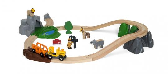 Großes BRIO Safari Bahn Set