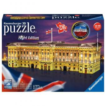 Ravensburger 3D Puzzle Buckingham Palace LED bei Nacht