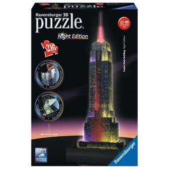 Ravensburger 3D Puzzle Empire State Building LED bei Nacht