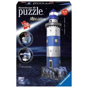 Ravensburger 3D Puzzle Leuchtturm bei Nacht LED