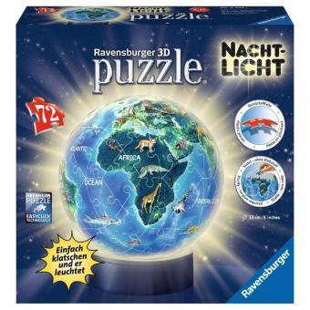 Ravensburger 3D Puzzle-Ball Nachtlicht - Erde bei Nacht
