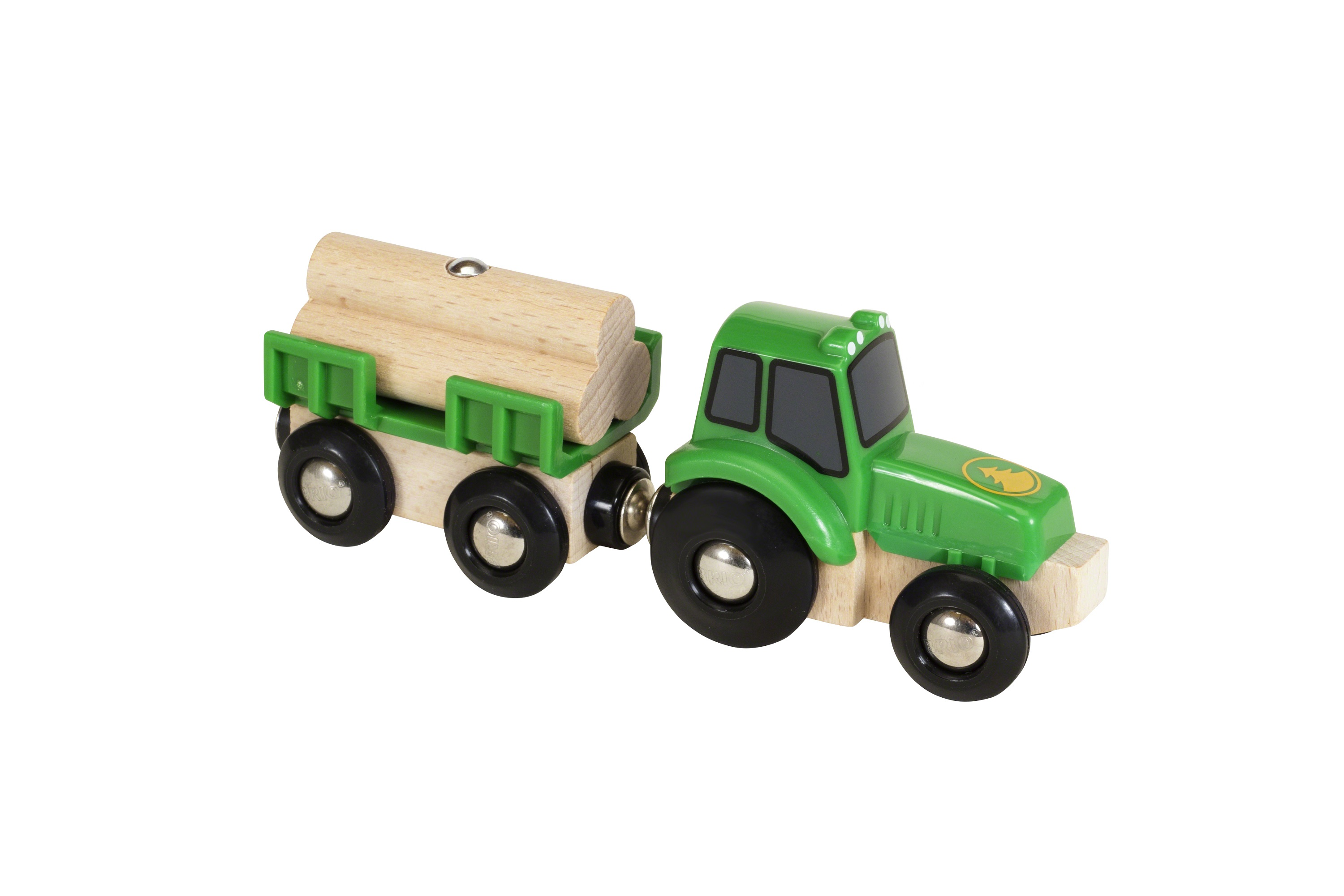 brio traktor mit holz anh nger im brio online shop. Black Bedroom Furniture Sets. Home Design Ideas