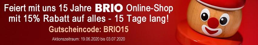15 Jahre BRIO Online Shop